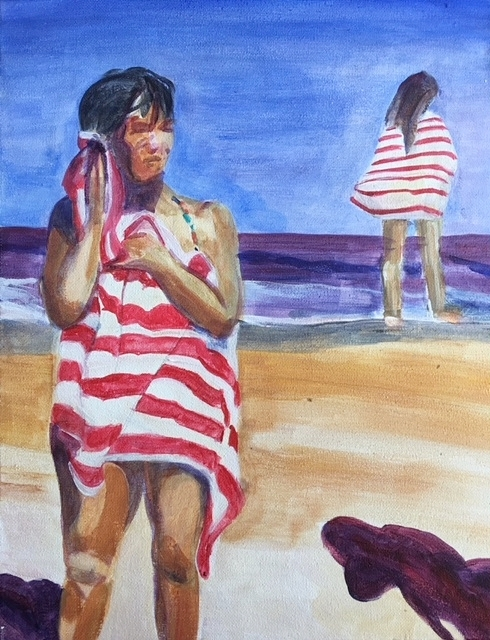 Striped Towels, 2018