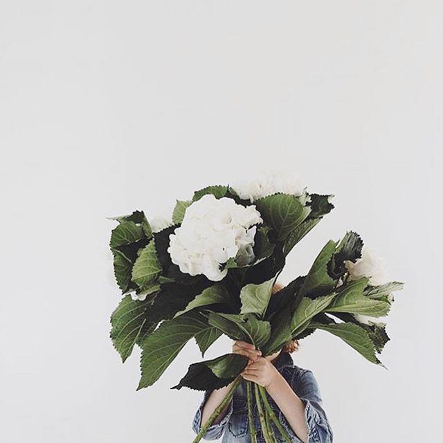 Little lady, big bouquet