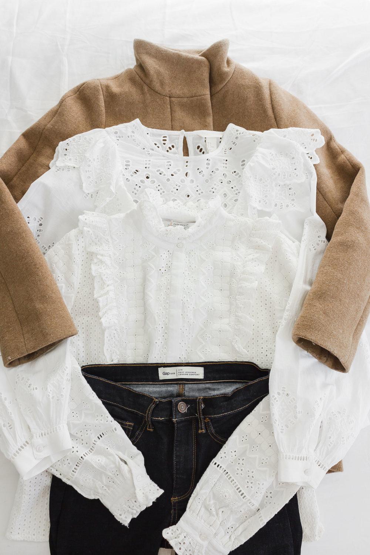 Coat: JCrew | Jeans: Gap | Tops: H&M & Zara