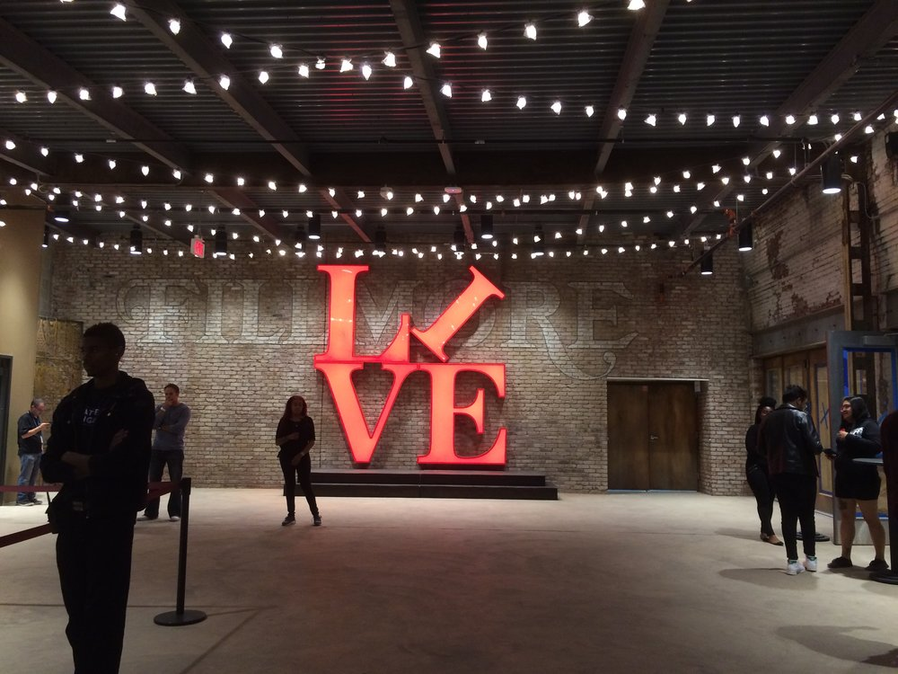 A live music ode to Robert Indiana's iconic LOVE statue.  Photo: Ewing Cole