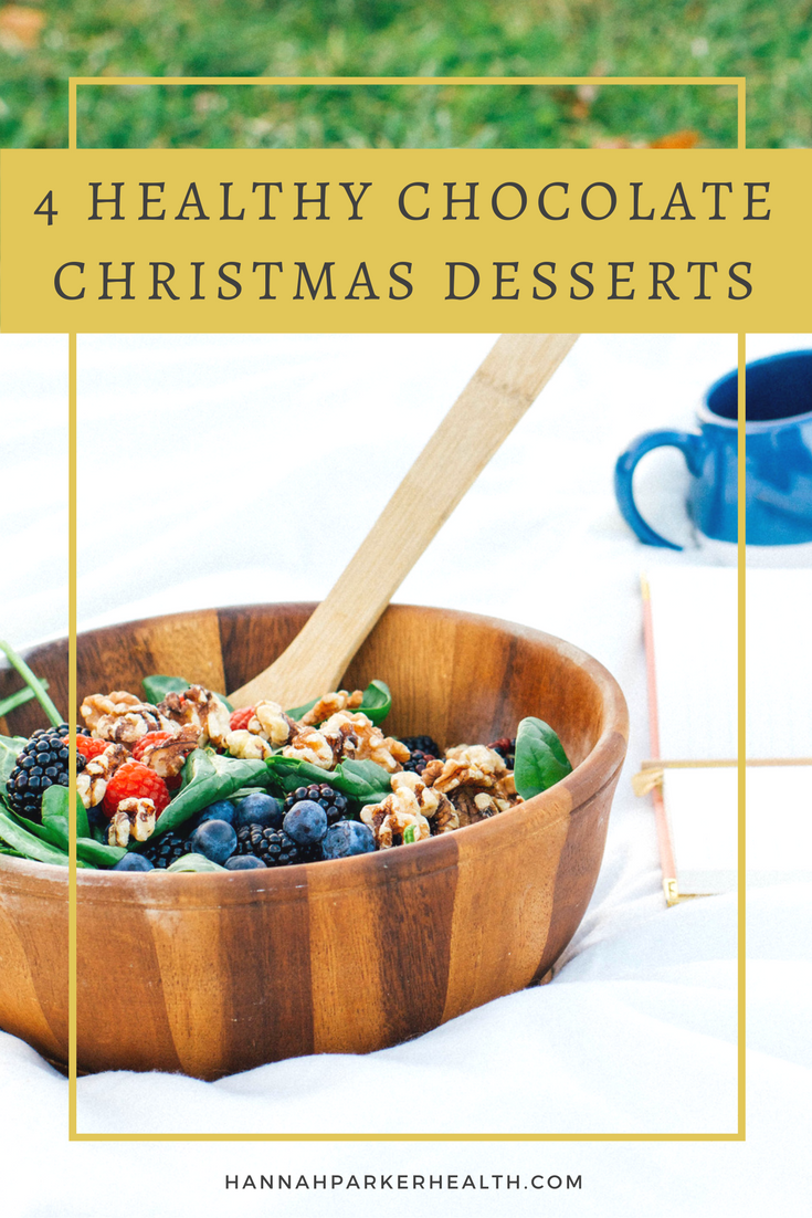 4 Healthy Chocolate Christmas Desserts