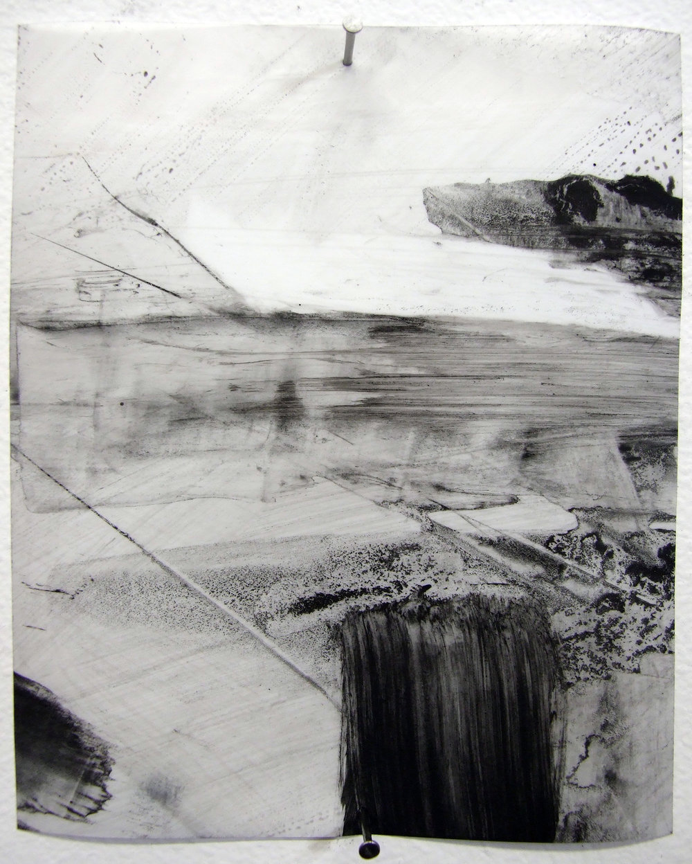 N.o 18, charcoal and gesso on mylar, 2012