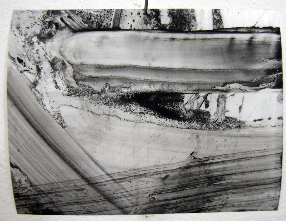 N.o 19, charcoal and gesso on mylar, 2012