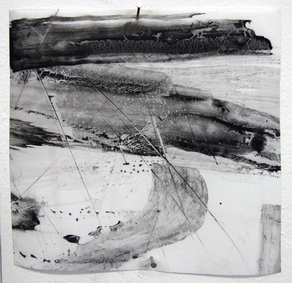 N.o 20, charcoal and gesso on mylar, 2012