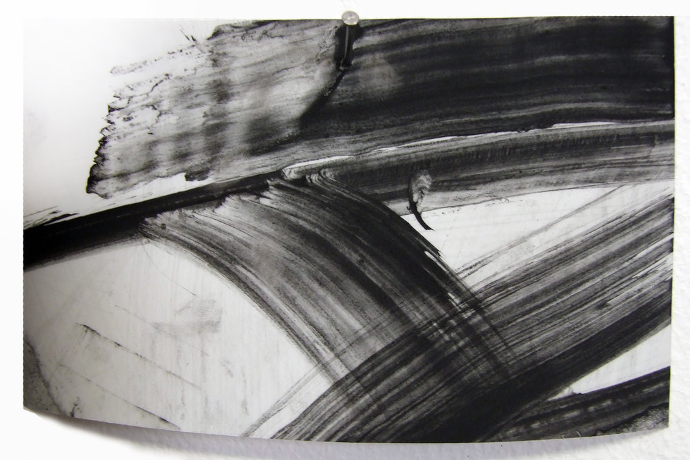 N.o 12, charcoal and gesso on mylar, 2012