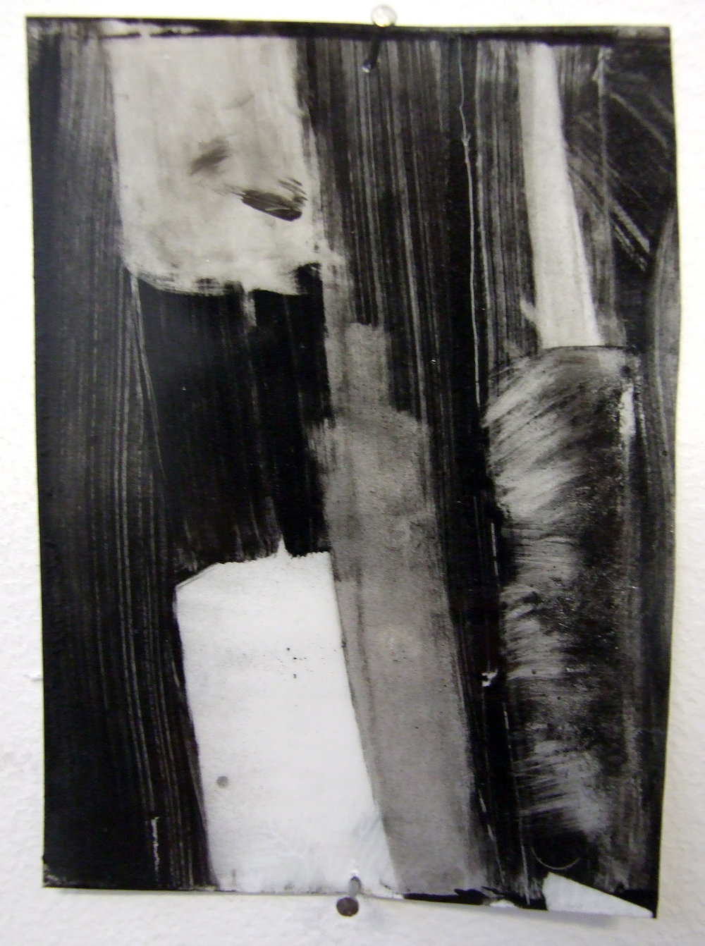 N.o 1, charcoal and gesso on mylar, 2012