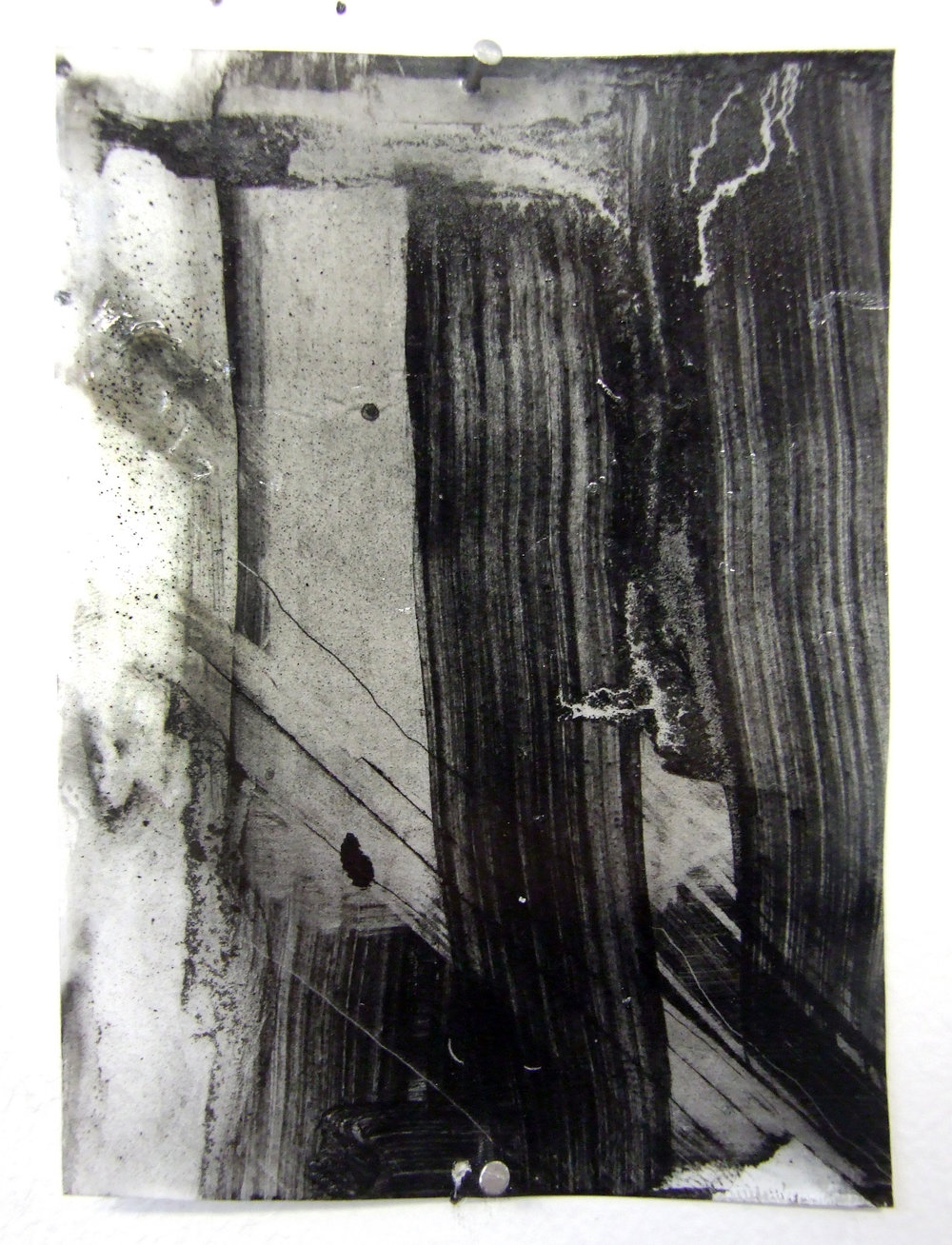 N.o 2, charcoal and gesso on mylar, 2012