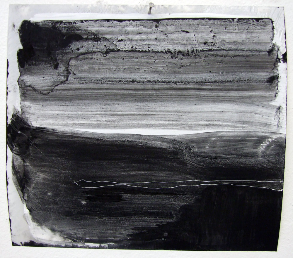 N.o 6, charcoal and gesso on mylar, 2012