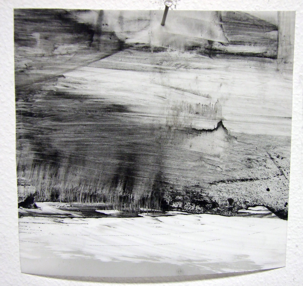 N.o 10, charcoal and gesso on mylar, 2012