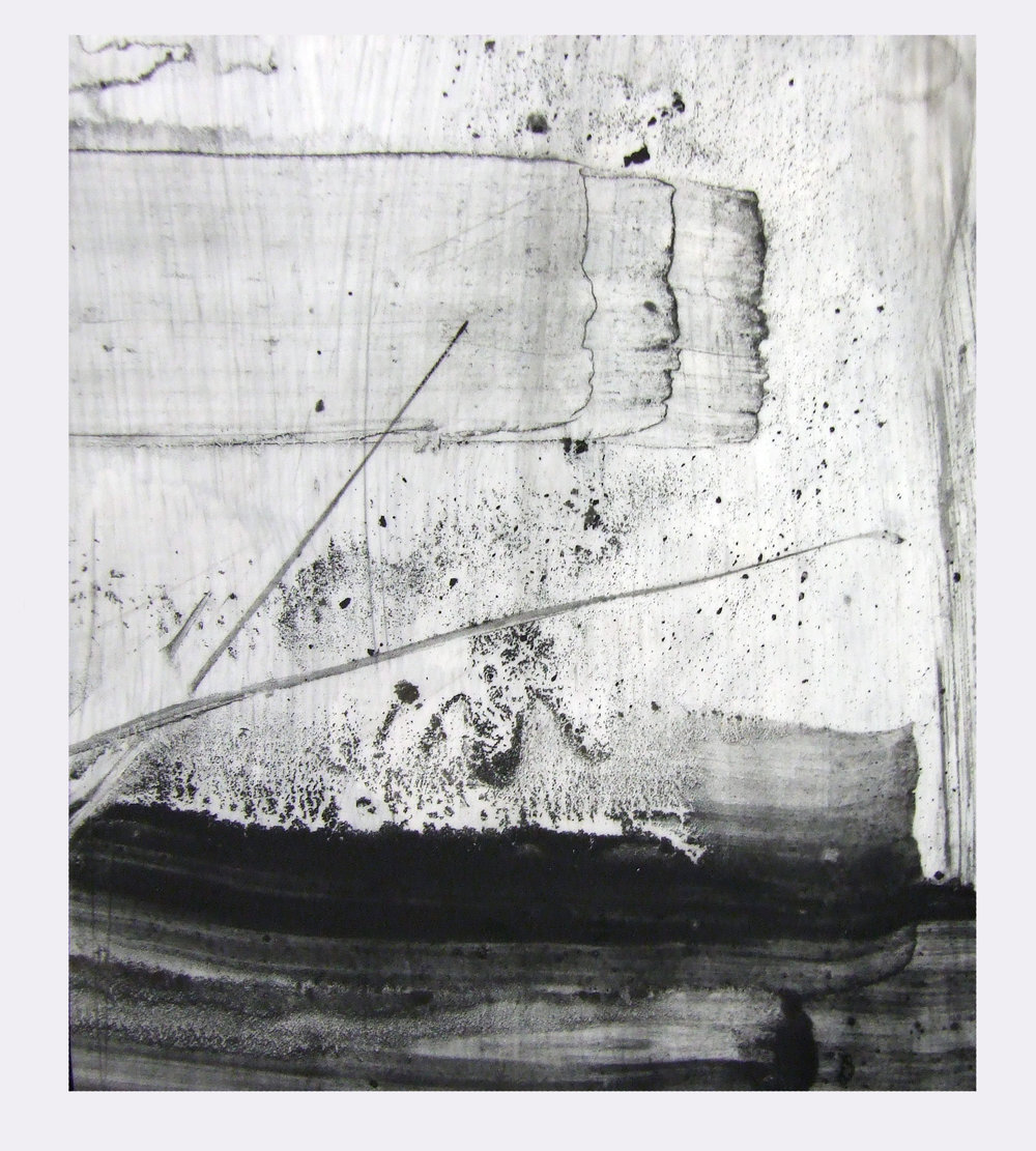 For E.H, charcoal and gesso on mylar, 2012