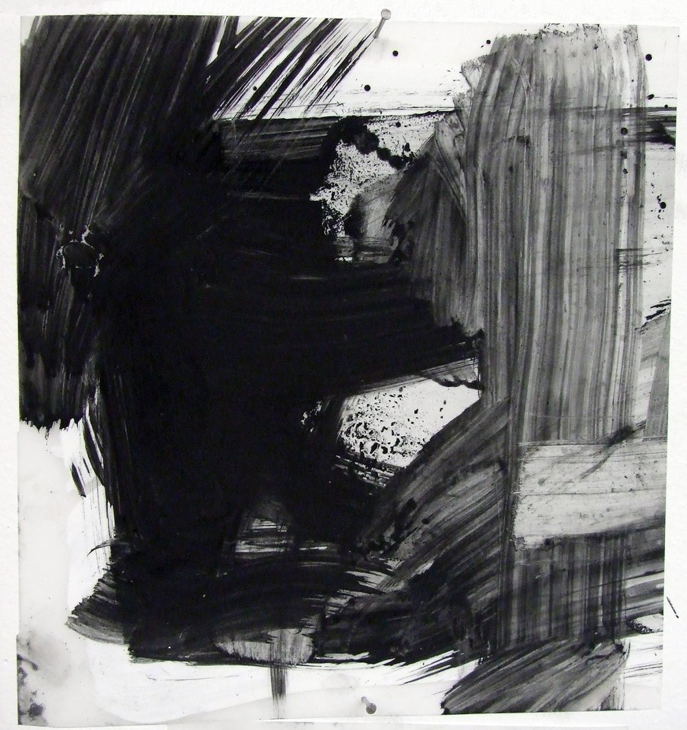 N.o 23, charcoal and gesso on mylar, 2012
