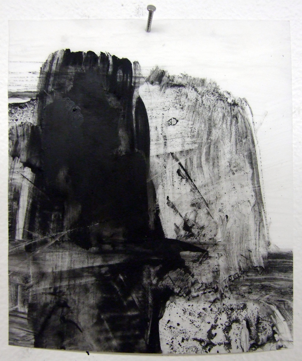 Marriage, charcoal and gesso on mylar, 2012