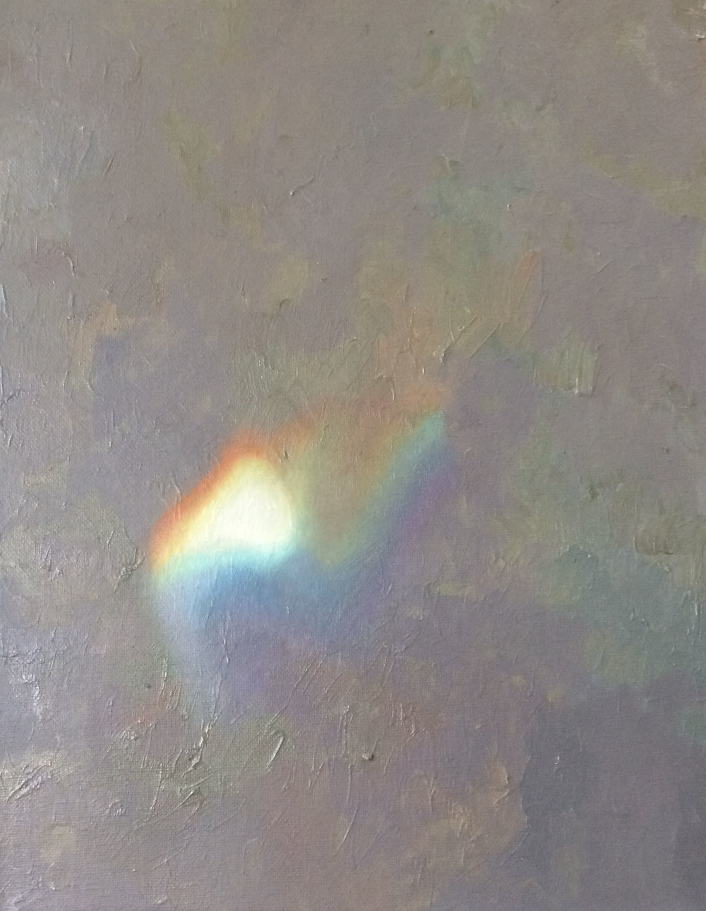 "Spectrum, oil on canvas, 14"" x 11"", 2016"