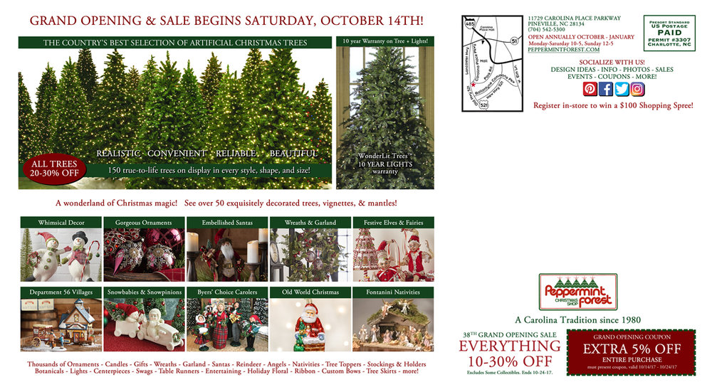 postcard-coupon-peppermint-forest-christmas-shop-charlotte-nc