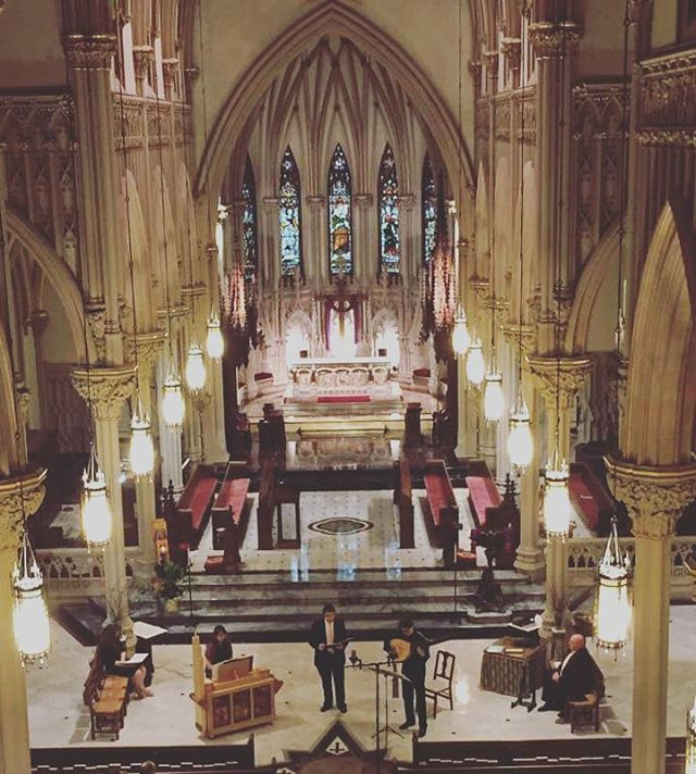 Thank you so much to @incarnationgc for allowing us to kick off the Long Island Early Music Festival in this gorgeous space!  Stay tuned for uploads of a few of our favorite pieces from yesterday's event, and news of our *star studded* upcoming concert!! 😉 #cathedral #earlymusic #quartet #with #lute #blessed