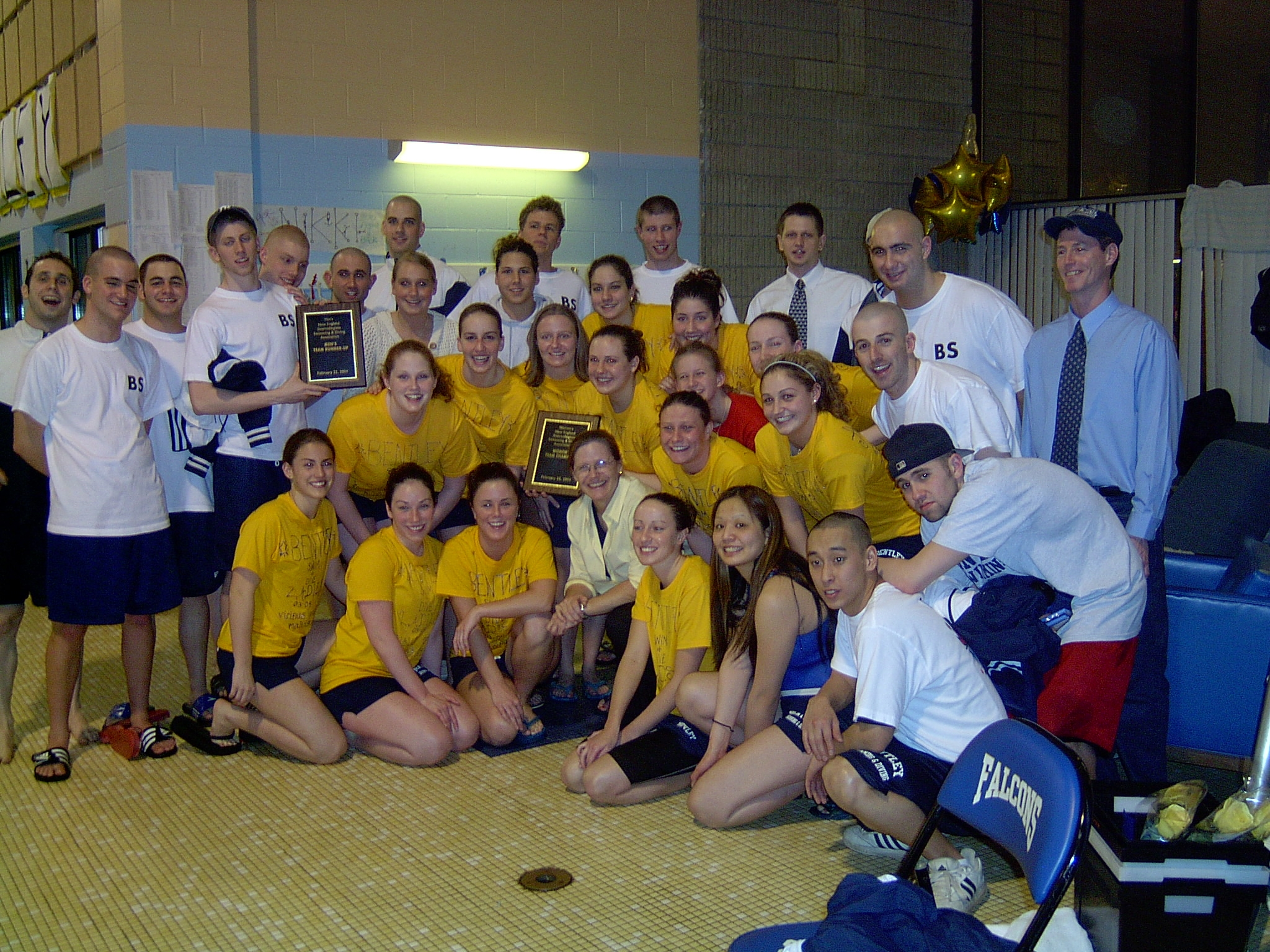 Bentley Swim Team '04 champs!