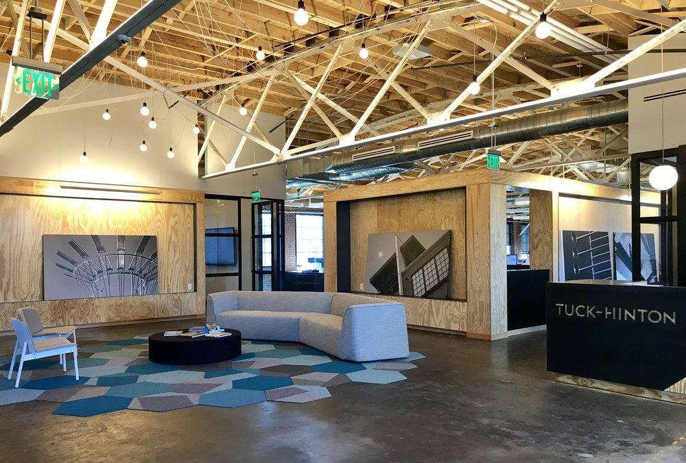 Tuck-Hinton's new office lobby