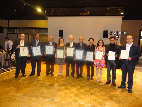 New Fellows and Diplomates. From left to right: Dr. Ricardo Calafell (Diplomate), Dr. Pedro A. Cheverez (Diplomate), Dr. William A. Nunez Figueroa (Diplomate), Dr. Monkika Osko (Diplomate), Dr. James Poyak (Diplomate), Dr. Kristofer Krimi (Diplomate), Dr. Mike Ho-Yu Hsieh (Diplomate) Dr. Francesca Velasco (Fellow), Dr. Farhan Durrani (Fellow), Dr. Michael Shashaty (Fellow)