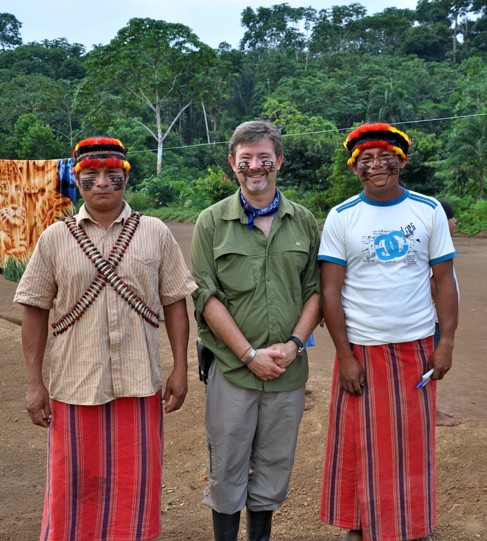 Nigel and Achuar elders.JPG