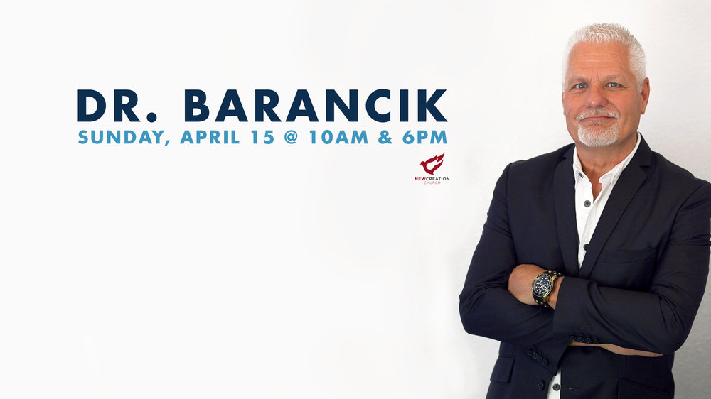 Join us for special services with Dr. Karl Barancik from Faith City Church in Fenton, Michigan. Dr. Barancik has served as Lead Pastor and now overseer of the Faith City Church campuses with a passion for seeing people transformed by the Gospel of Grace.