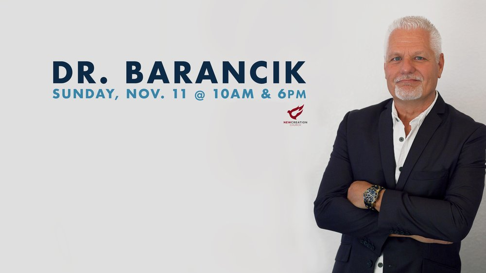 Join us for a special service with Dr. Karl Barancik from Faith City Church in Fenton, Michigan. Dr. Barancik has served as Lead Pastor and now overseer of the Faith City Church campuses with a passion for seeing people transformed by the Gospel of Grace.
