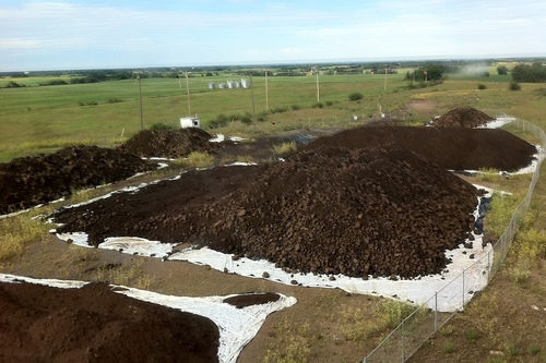 Iron ore stockpile at Hines Creek on Ironstone's 120 acre site