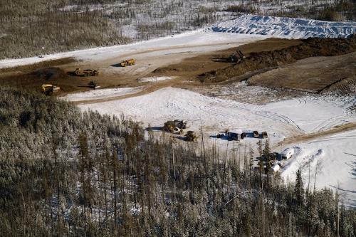 Bulk sample pit excavation at Rambling Creek
