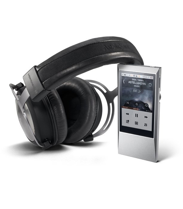Headphones with portable player
