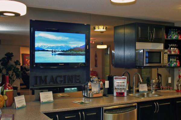 TV Kitchen Wall Mount installation