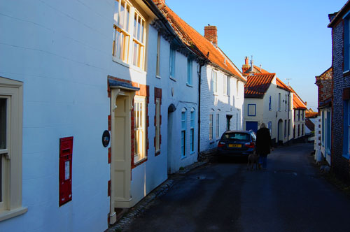 Pretty cottages on Blakeney high street