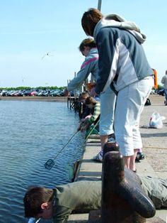 Crab fishing from Blakeney Quay