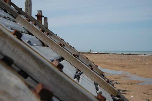 OVERSTRAINED beach sea defences