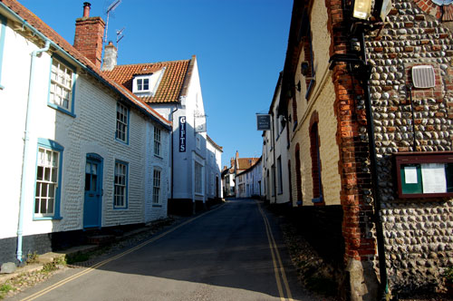 Entrance to blakeney high street on the quay near Whitehorse Pub