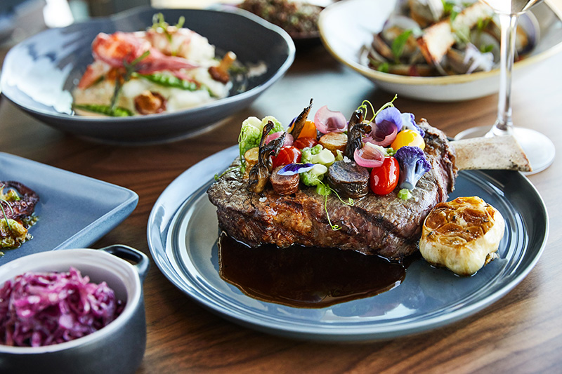 Seasonal menus showcasing fresh local ingredients and high-quality meats