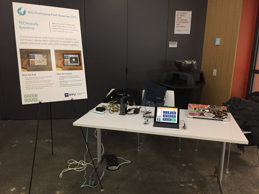 NYU Prototyping Fund Showcase 2016 @ NYU Tandon School of Engineering Maker Space
