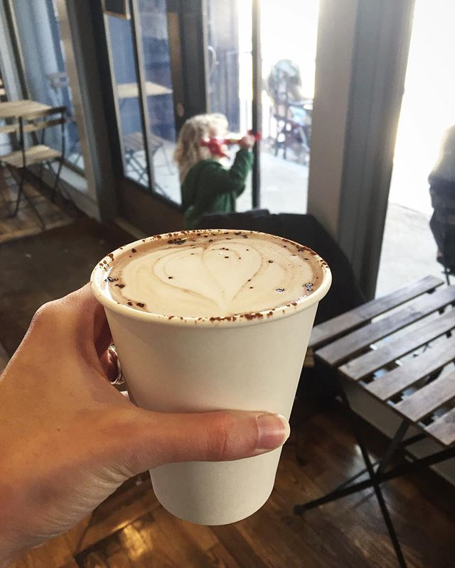 Warming up with a mocha latte with almond milk👌🏼👏🏼 #lategram #parliamentchocolate #pilgrimroasters #specialtycoffee #phillycoffee #califiafarms How are you warming up today?!