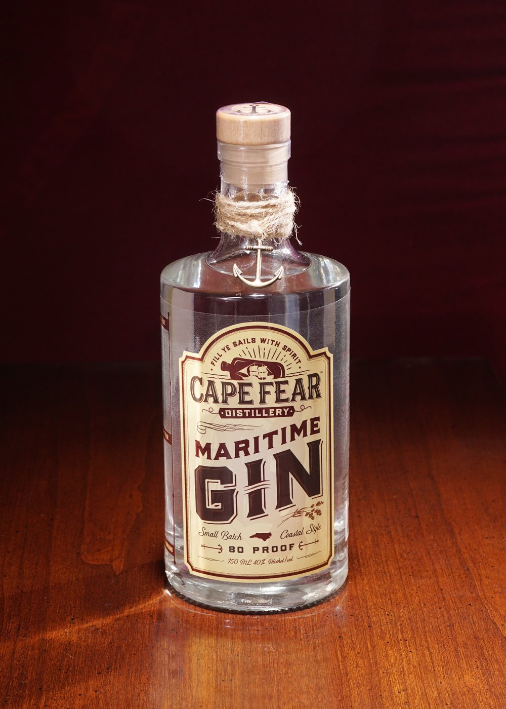"Cape Fear Distiller's ""Maritime Gin"" is available for purchase at the distillery and will be available in ABC stores soon. Tours at Cape Fear Distillery are $5 and include a free gin tasting."