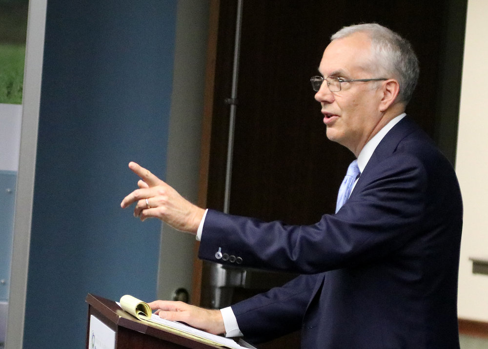Les High, president of the Columbus Jobs Foundation, addresses members gathered Thursday for the organization's annual meet at the North Carolina Museum of Natural Sciences in Whiteville_2.jpg