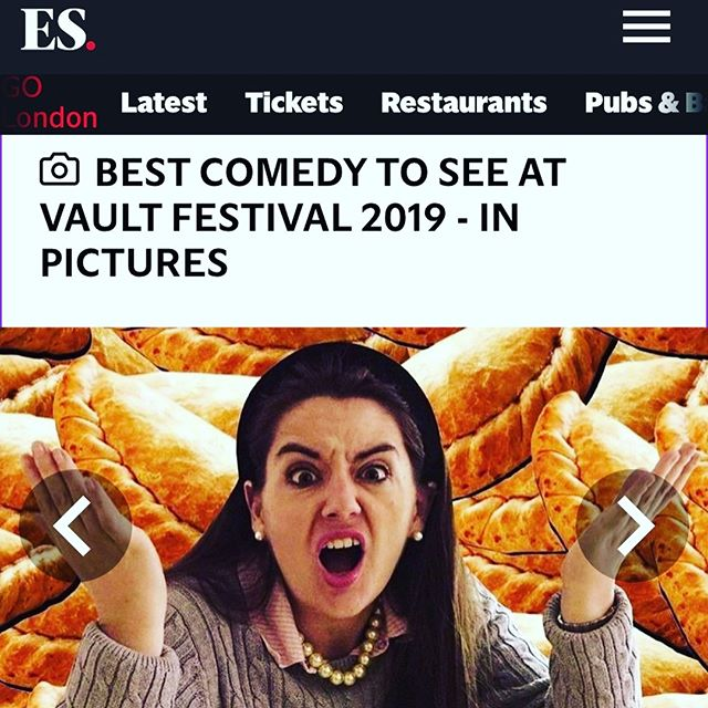 @evening.standard @estheatreandarts picked JANE PASTY'S HOT 🥔 (a topical comedy debate show with special guests!) as one of the TOP TEN COMEDY SHOWS @vaultfestival BOOK NOW! March 6/7 at 8.40pm