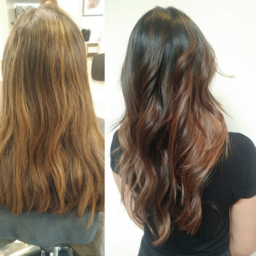 Reverse Balayage Shadow Root by Luxe stylist Selene!