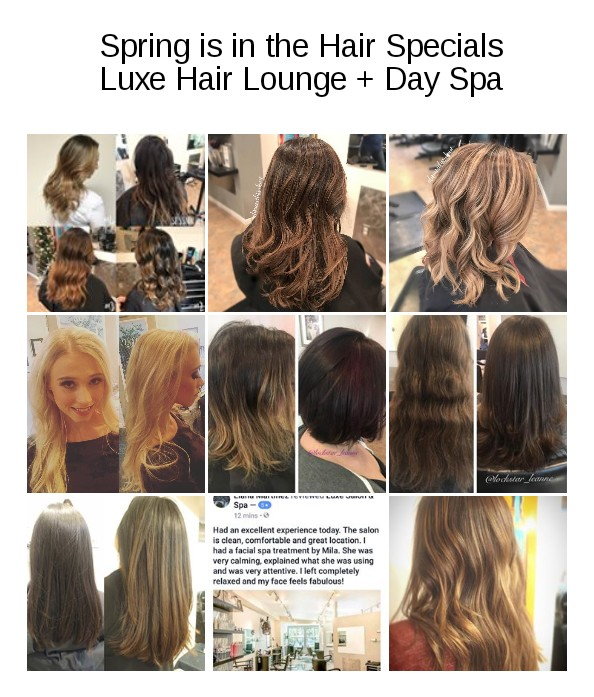 luxe hair lounge salon specials cuts color balayage ombre downtown sacramento