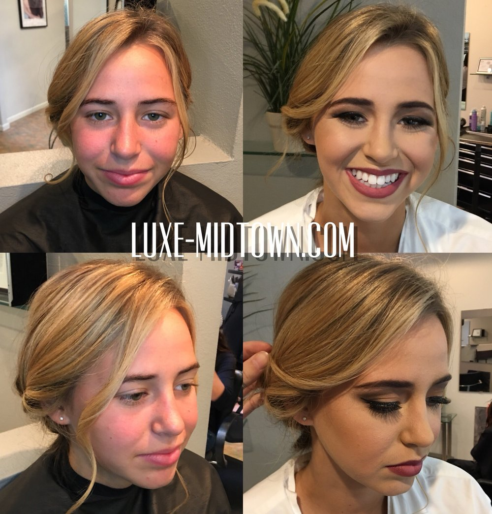 hair makeup specials sacrament prom luxe