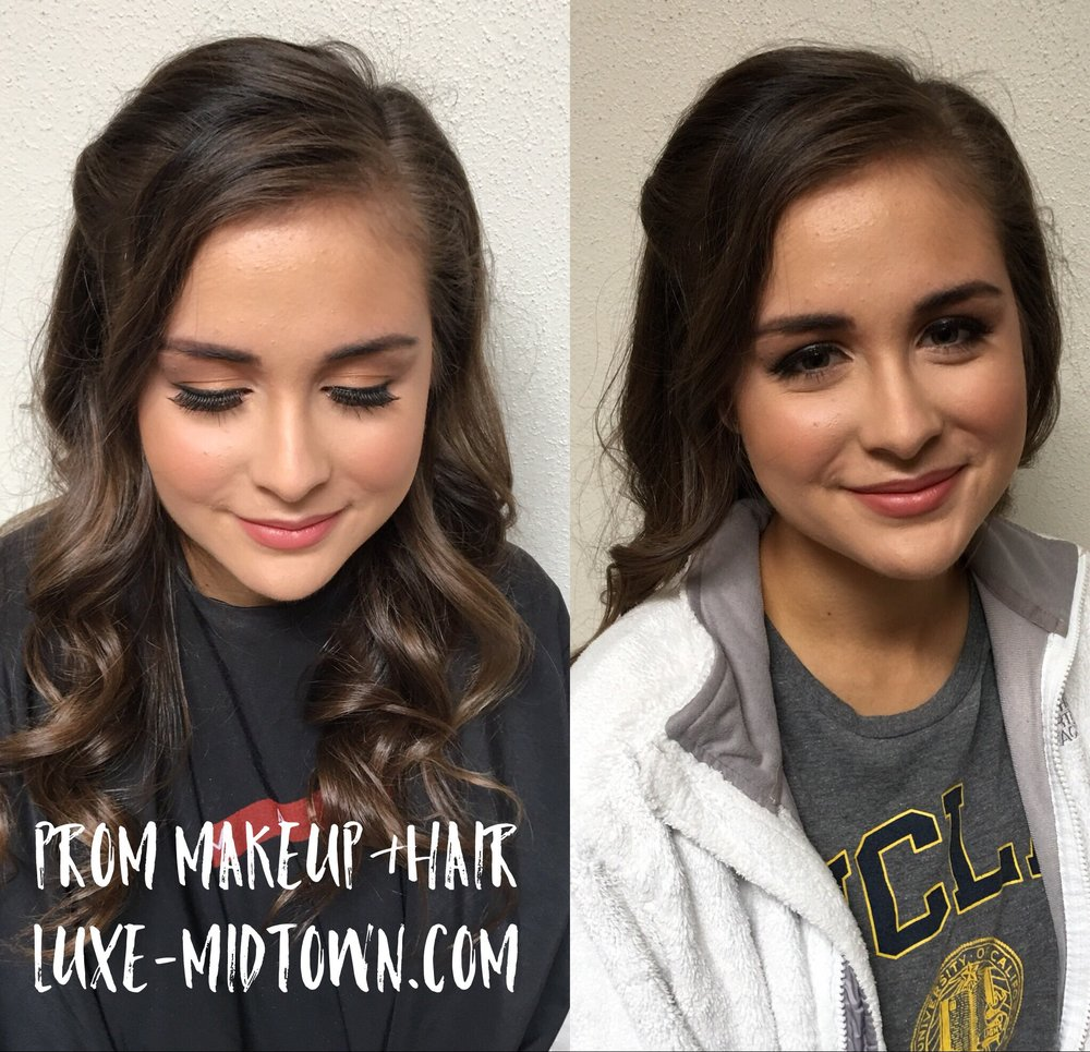 luxe hair lounge prom makeup hair specials sacramento
