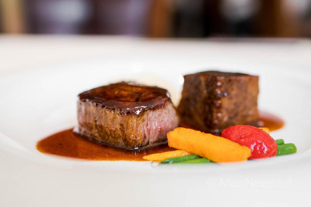 Short rib & beef tenderloin (HK$480)