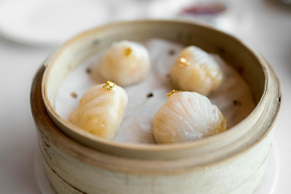 龍軒筍尖蝦餃 Steamed golden shrimp dumpling with bamboo shoot (HK$90/5pcs)