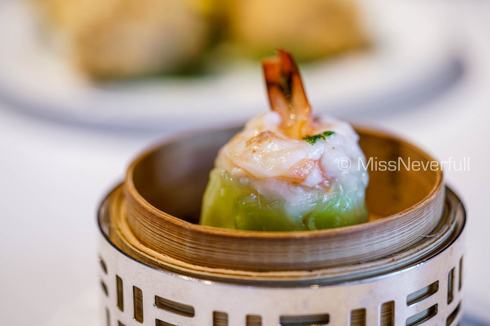 龍太子蒸餃 Steamed Lobster and Scallop Dumpling (HK$58)