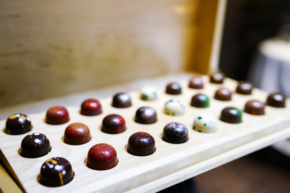 Selections of chocolates