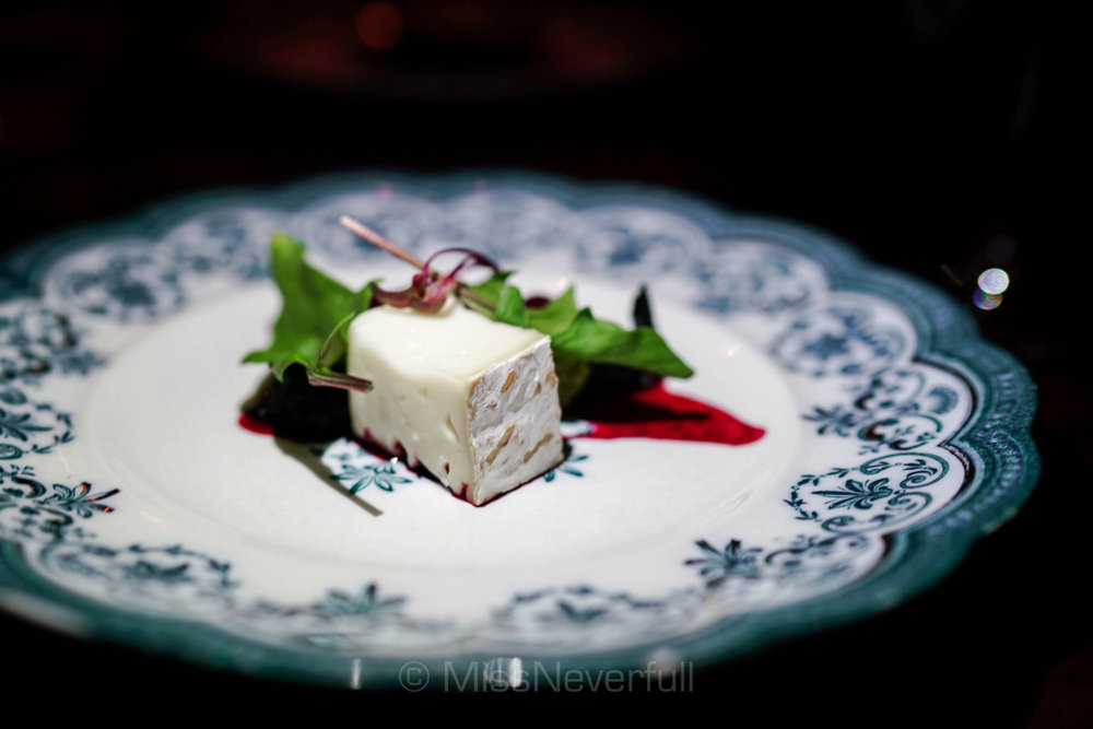Cheese: Casatica cheese, beet salad
