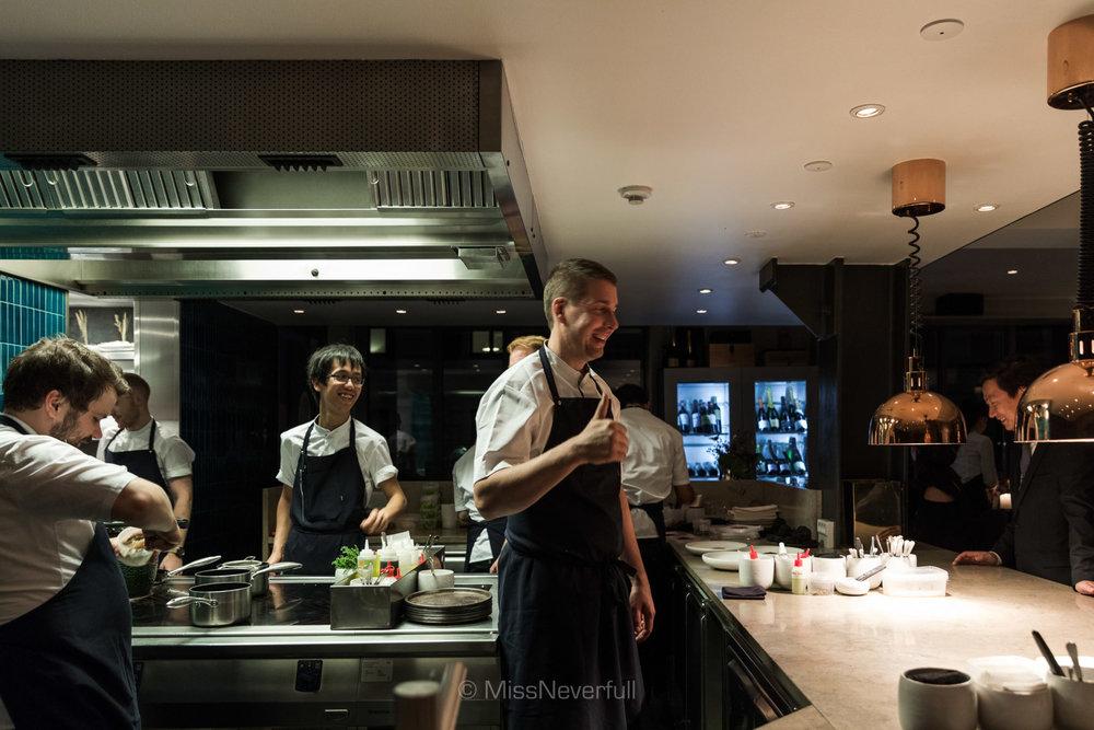 A happy kitchen leaded by Chef Torsten Vildgaard