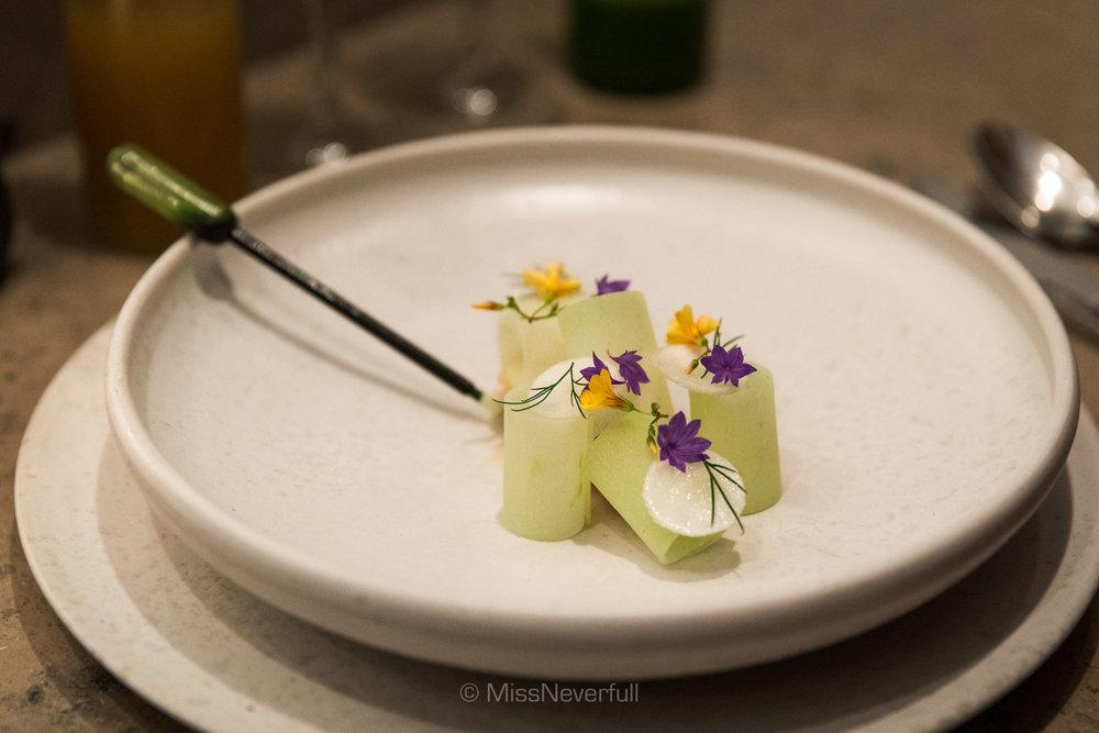 3. Langoustine, late summer apples, Jerusalem artichokes and vanilla